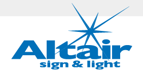 Altair Sign and Light