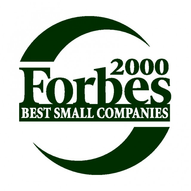 Forbes 2000 Best Small companies logo